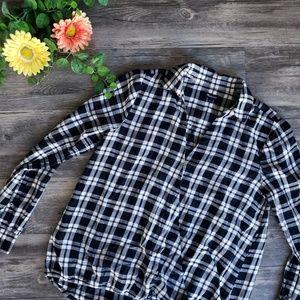 Madewell | Arion Black &White Plaid Shirt